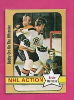 1972-73 OPC # 58 BRUINS BOBBY ORR ACTION  VG+ CARD (INV# D0901)