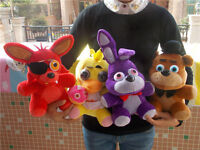 Hot 4pcs/set FNAF Five Nights at Freddy's Chica Bonnie Foxy Plush Doll Toy Gift