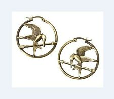 HUNGER GAMES Katniss Mockingjay Hoop Earrings Officially Licensed Lionsgate NWT