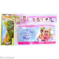 TINKERBELL Disney Fairies stationary set kit pencil case ruler sharpener eraser