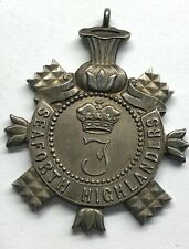 rare 1911 military  Seaforth Highlanders Fob / medal