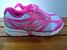 Saucony Little GirlsNon-Tie Sneakers Pink/Silver  Girls Size 8  M