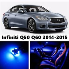 11pcs LED Blue Light Interior Package Kit for Infiniti Q50 Q60 2014-2016