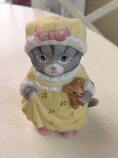"Kitty Cucumber, Kitty in Yellow Nightgown, 1985, Mint, 3.5"", Schmid"