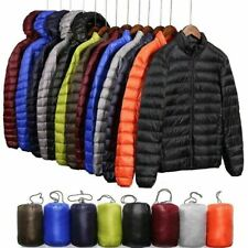 Factory Sale Men's Lightweight 90% Down Jacket Hooded Puffer Parka Coat New