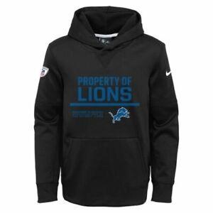 Detroit Lions Nike Youth Boys Property of Pullover Hoody Sweatshirt - Black