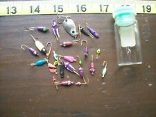 ICE FISHING JIGS 20 PLUS NEW MULTIPLE COLORS STYLES SIZES 6 TO 12
