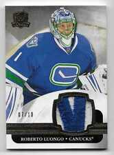 11/12 THE CUP BASE GAME USED PATCH #82 Roberto Luongo #7/10 2CLR