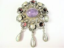 ANTIGUO BROCHE PLATA 800 , 11,44 G