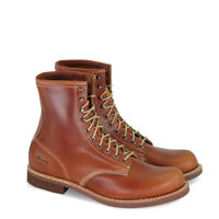 Men's Thorogood Tomahawk Cognac 814-4107 Leather Lace Up Boots 1892 Series USA