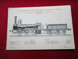 AK Dampflok Braunschweigische Eisenbahn