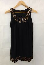 Ladies Asos Size 6 Beaded/Jewelled Black Pencil Dress Sleeveless