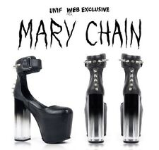 UNIF Mary Chain Platform Black Leather Women's Size 5.5 MSRP $299