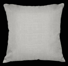 Qh09a Pale Grey Thick Cotton Blend Style Cushion Cover/Pillow Case Custom Size