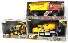 3 pc Interactive Plastic Construction Vehicles Tonka Dump+CAT Concrete Mixer+Hoe