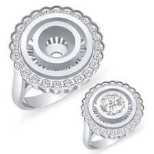 0.25 Ct Round Cut Natural Diamond Setting VS2 G Engagement Ring 14k Gold White