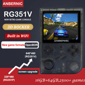 """Anbernic RG351V Pocket Retro Game Console RK3326 Linux System 3.5"""" IPS SCREEN"""
