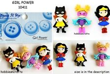 Dress it up buttons Girl Power Novelty Embellishments 10411