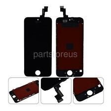 Black Front Glass LCD Display Touch Screen Digitizer +Frame For iPhone 5S SE