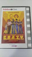 C.R.A.Z.Y. CRAZY DVD JEAN-MARC VALLEE SPAIN EDITION CASTELLANO FRANCES nueva AM