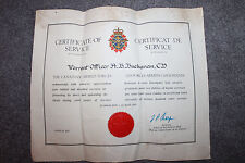 Large Original Canadian Army Warrant Officer's Service Document 1941-1969