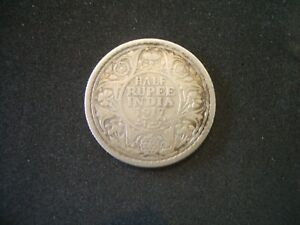 Silver  1917 Half Rupee coin ; Sell for Charity