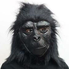 ADULT LATEX GORILLA MASK W/ HAIR CHIMPANZEE MONKEY ANIMAL COSTUME MASK