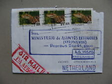 URUGUAY, cover to the Netherlands 2004, reptile caiman crocodile