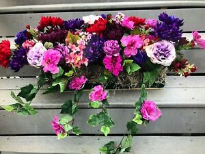 """Window Flowers for your 18"""" Box Colorful Purple Red Violet Pink extends to 24"""""""