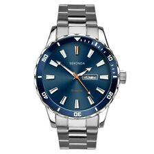 Sekonda Gents Mens Watch Divers Style Bracelet Blue Day/Date 1653 RRP £49.99