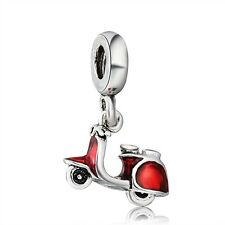 Cool Girl Motorcycle Charm Best Gift Silver Bead Fit 925 Sterling Bracelet Chain