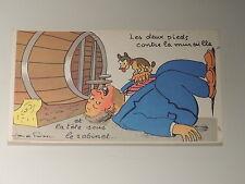 """Carte postale humoristique """" thème le vin"""""""