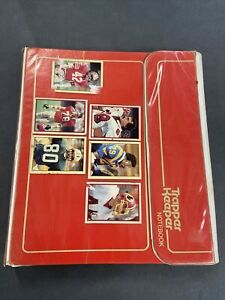 Vintage 1980's Red Trapper Keeper Portfolio Notebook with 80's NFL Stickers