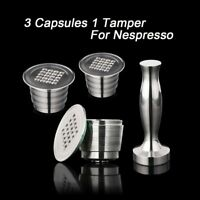 Nespresso Refillable Coffee Capsule Stainless Steel Reusable Capsules 4PC/Set