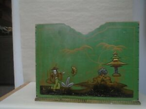 Splendid Chinese green wooden chinoiserie magazine rack  VINTAGE OR ANTIQUE?