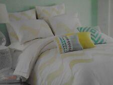 New Kas Ondra Chartruese White Embroidered Twin Duvet Cover