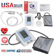 Blood Pressure Monitor BP Cuff Upper Arm SPO2 Oximeter Pulse Heart Rate Checker