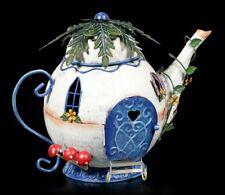 Elfen Teekannen Haus Metall - Tubby Teapot - Fantasy Fee Garten Wohndeko