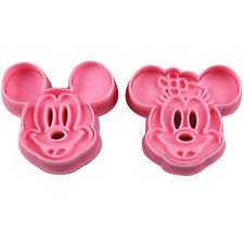 Mickey and Minnie Mouse Cookie Cutter & Hand Press Stamp Set Biscuit Fondant