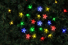 100LED 10.9M Mulit-Colored SOLAR CHERRY BLOSSOM XMAS STRING LIGHTS Clean Wire