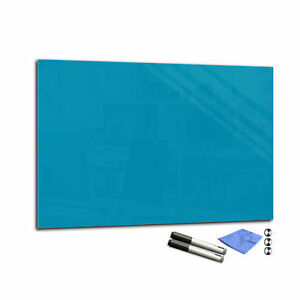 """Color Magnetic Glass Markerboard T02 15.7"""" x 23.6"""" dark turquoise"""