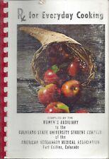 FORT COLLINS CO 1972 COLORADO STATE UNIVERSITY VETERINARY MEDICINE COOK BOOK Rx