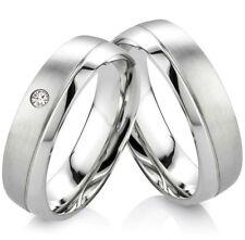 Eheringe Verlobungsringe Trauringe aus Edelstahl mit Zirkonia Ringe Gravur H012