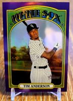 Tim Anderson 2021 Topps Heritage Purple Hot Box Sp Refractor #243 - White Sox