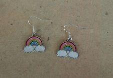 Ohrringe Regenbogen auf der Wolke *Neu* Ohrhaken aus Chirurgenstahl versilbert