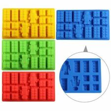 For Lego Lover Silicone brick & Robot ICE Cube Candy Chocolate Cake Soap Mold
