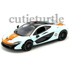 Motormax McLaren P1 Gulf Oil 1:24 Diecast Display Toy Car 74642D Light Blue