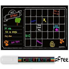 ChalkTastic Chalkboard Wall Calendar - Large Monthly Dry Erase Decal Wall Cal...