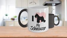 Color Changing Mug Dog Theme I Love My Schnauzer