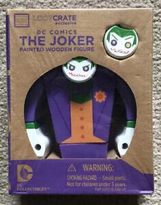 Loot Crate Exclusive - DC Comics The Joker Painted Wooden Collectible Figure